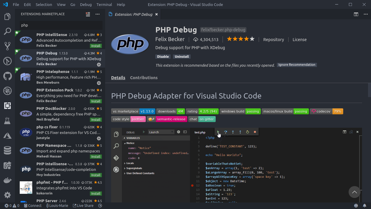 Setup VS Code for Efficient PHP development 🚀